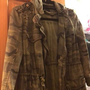 Camo studded jacket